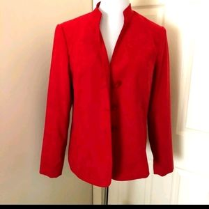 JM collection s18W faux suede red jacket